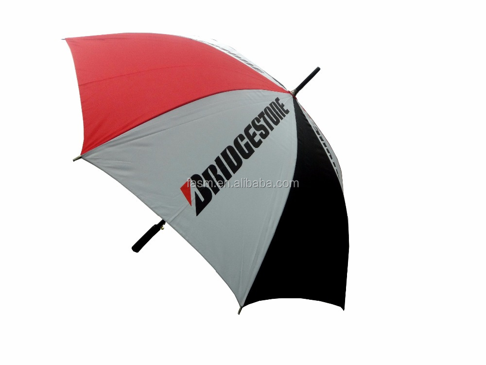 Golf Umbrella with Color Coating Fabric prevent 99% UV