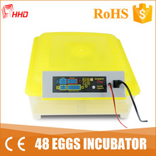 HHD 12 volts battery easy operation automatic chicken hatchery for sale with intelligent hatch controller YZ8-48
