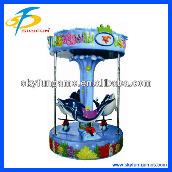 Children funny Ocean World merry go around