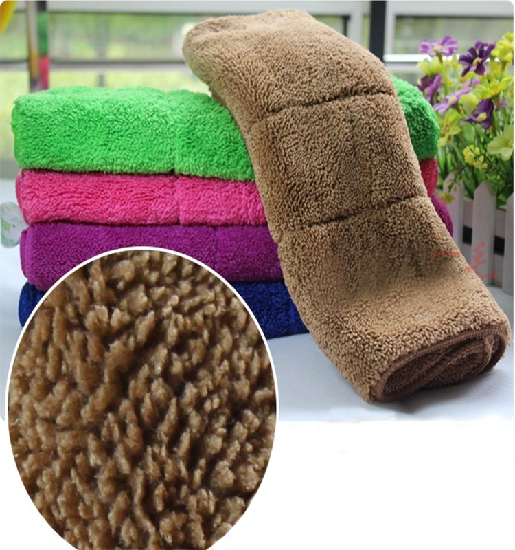 wholesale best quality 40cm*40cm quick-dry microfiber household cleaning cloth