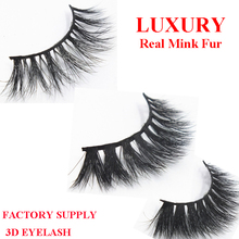 Beautiful 3D mink eyelashes 100% real mink fur factory supply
