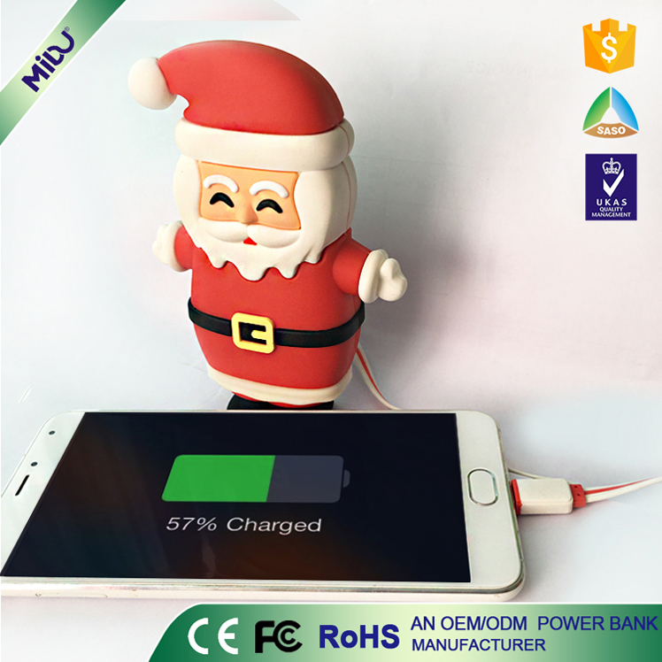 unique electronic products funny 6000mah power bank christmas gift for your friends