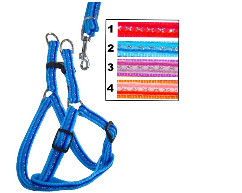 Stripe Color Small Dog Harness and Leash Metal Buckle Small Order Provided C1030