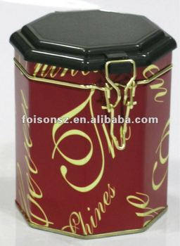 custom made octagon coffee tin packaging box