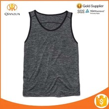Flower Grey Polyester Breathable Sports Quick Dry Tank Top