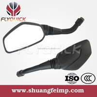 ZF001-124 FLYQUICK wholesale OEM motorcycle parts black motorcycle motorbike side mirrors for BAJAJ PULASR 200 mileage