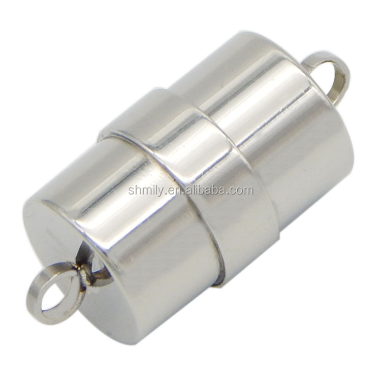 Hot Sale 23x11mm Barrel Shape Stainless Steel Jewelry Findings Magnetic Clasps For Rope Bracelets Necklaces Making BXGC-081