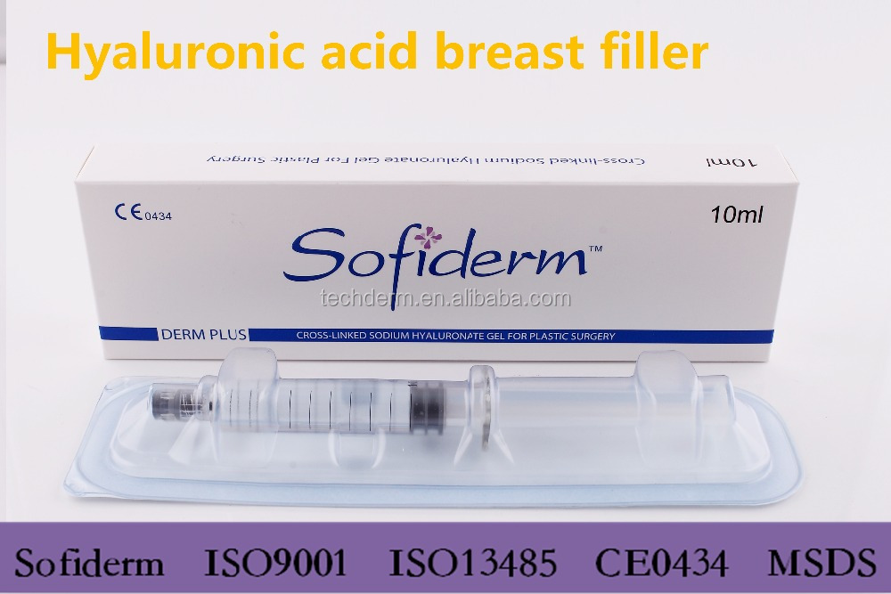 Breast enlargement hyaluronic acid dermal filler for plastic surgery