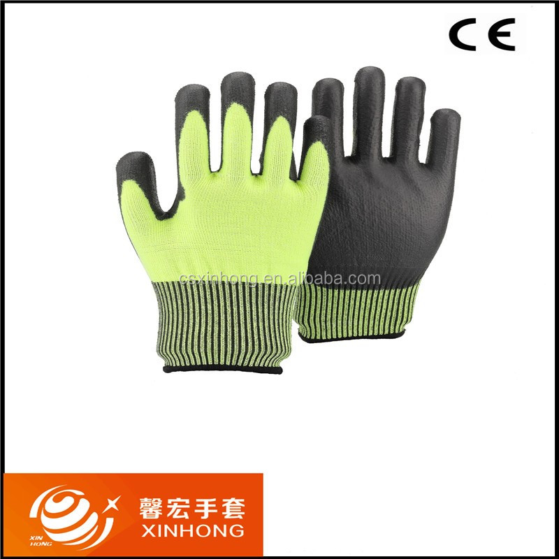 EN388 13 Gauge Pu Coated Rugged Wear Work Gloves Vinyl
