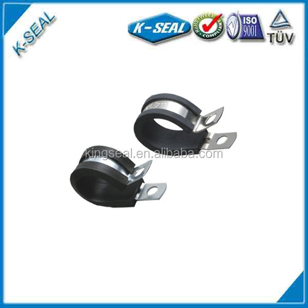 flexible rubber coated metal belt round clamps KPC26ss