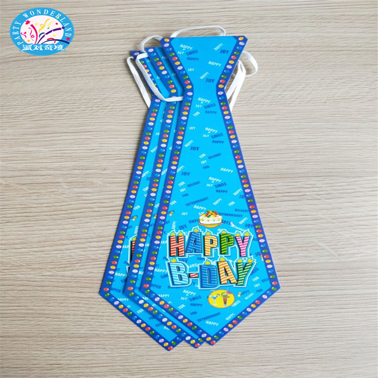 2018 Wholesale birthday party supplies most explosive paper party necktie
