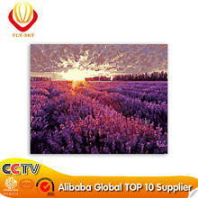 Chinese supplier 2015 lavender romantic love canvas oil painting (40*50cm)
