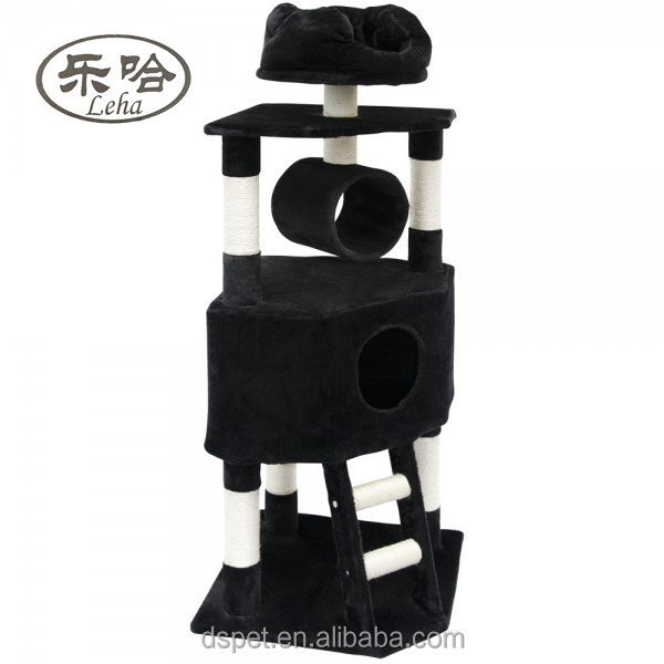 New Wholesale indoor Deluxe Cat Tree Condo Furniture Sisal Scratching Post Pet House Play Toy
