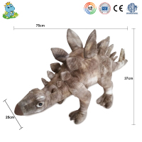 Custom cute lifelike large dinosaur model plush toy