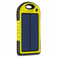 Solar Charger 5000mAh Portable Solar Power Bank Waterproof Battery Bank