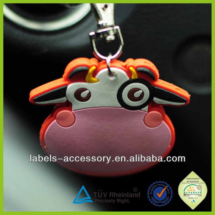 lovely custom 3d rubber keychain