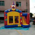 2017 hot commercial clown inflatable bouncer combo