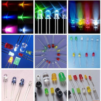Round 3mm 5mm led purple/red/green/blue/yellow/white rgb led diode