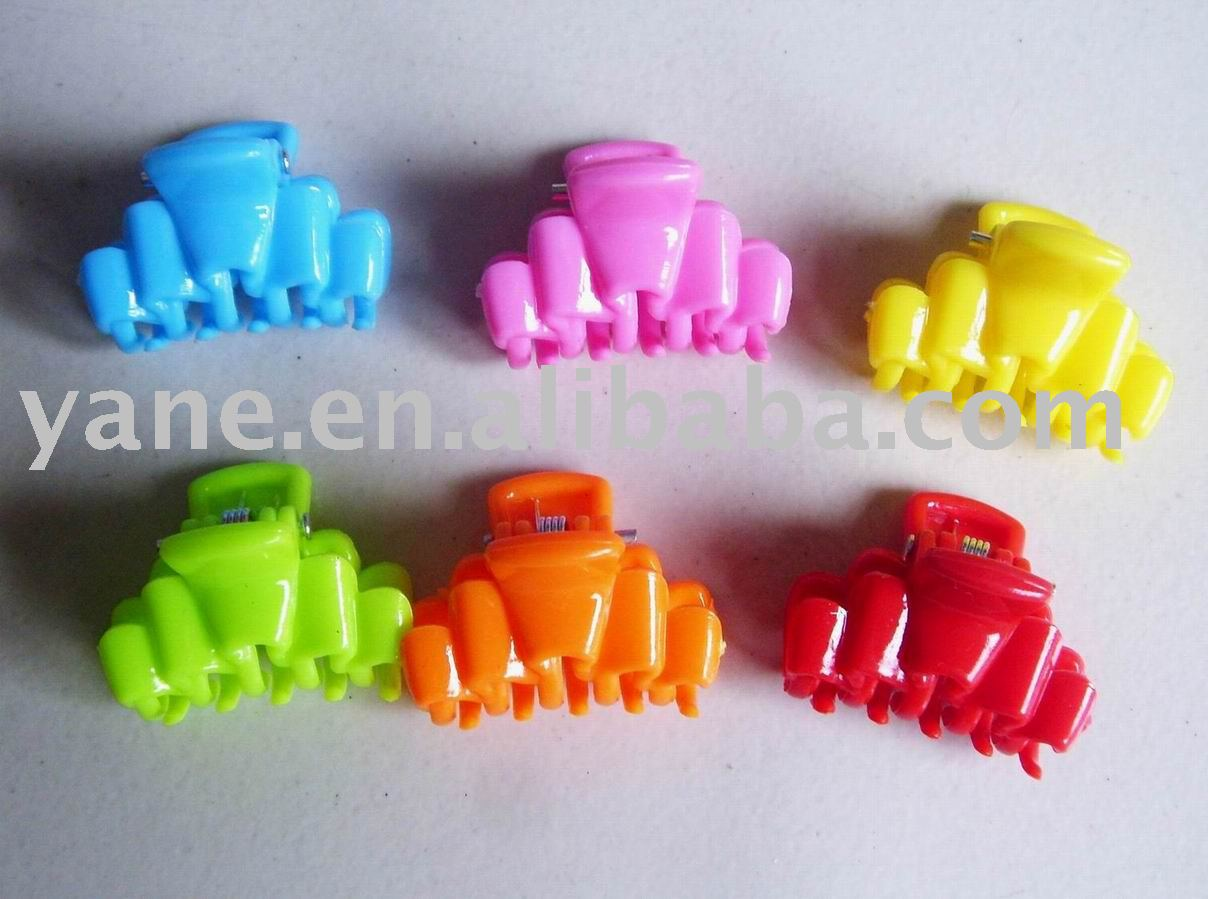 mix color plastic hair claw, hair holder