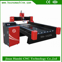 curb stone cutting machine HS1325 granite photo engraving cnc machine side table engraving carving wood router