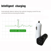 Portable 5v 2.1a electric quick charge 2.0 smart mini battery car phone charger