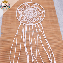 DLX-00022 white simple homedecor cheap crochet dream catcher handmade dreamcatcher