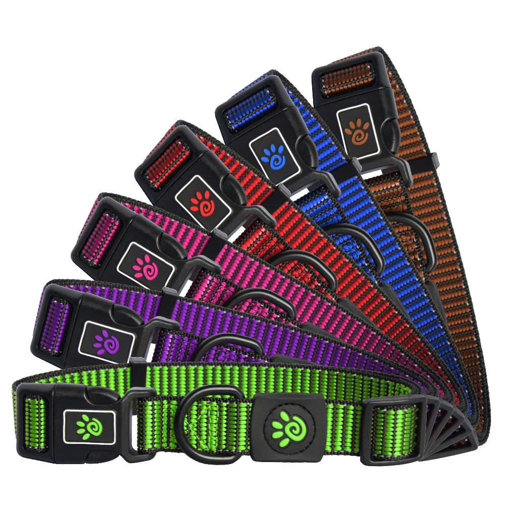 Pattern Stitched Premium Nylon pet training Collars Extra Small Gold