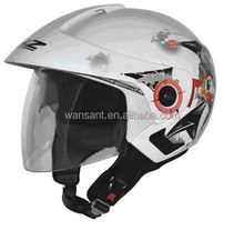 2014 high quality flip up double visor open face helmet top sale