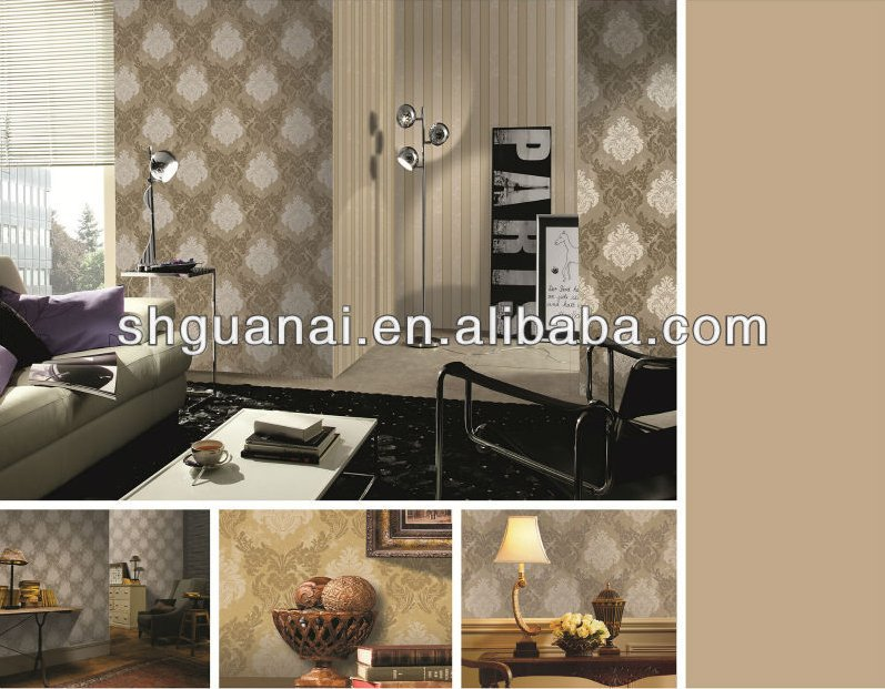 Interior wall panels background 3d fashion design non-woven wallpaper