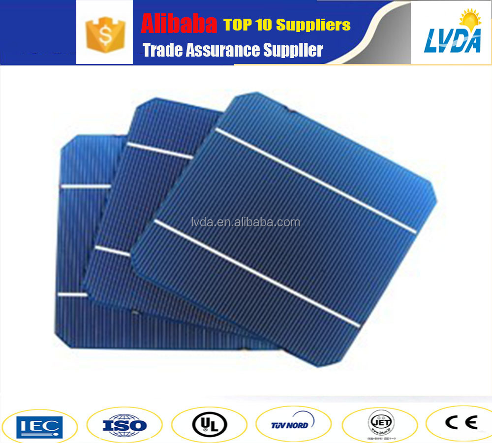 factory directly sale cheap price 120pcs/lot A grade high power 4.5w monocrystalline 156mm solar cells for sale