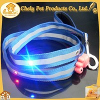 LED retractable dog leash with flashlight and bag Pet Collars & Leashes
