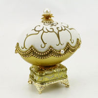 piano music box egg shape with music box girl music box