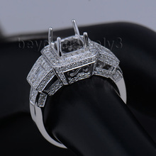 Luxury Ring Settings Without Stones For Men Natural 14K Gold Diamond For Sale SR0071J