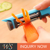 WS-P018 Multi-function 3-in-1 Rotary Peeler Stainless Steel Fruit and Vegetable Peeler Slicer Julienne Peeler