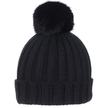 Winter Brand New Snow Caps Wool Knitted Beanie Hat With Raccoon Fur Pom Poms For Women