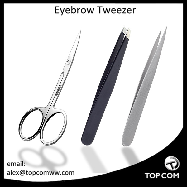 Tweezers 3-piece Precision Anti-static ESD Stainless Steel Tweezers for ingrown hair, Precision Eyebrow, Nail Care With Case