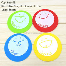 Hot Selling Colorful Rubber Dish Cup Holders Hot Tea Cup Mat Silicone Custom Coasters