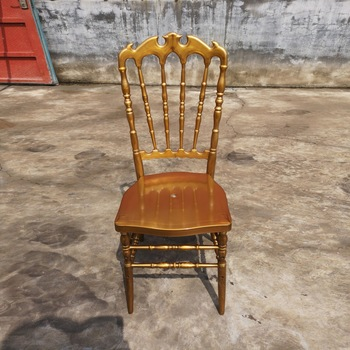 Hotel Banquet Gold Resin Crown Royal Chair Wedding