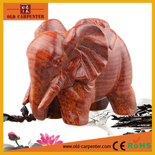 Wholesale Wealthy Elephant wood carving craft fashion home and office ornament