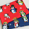 2017 new design snow printed peach ring spun cotton christmas fabrics