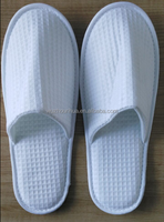 white disposable slipper with waffle farbic for hotel use