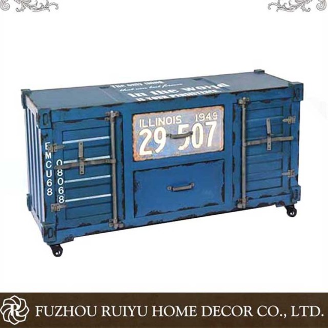 Antique china product OEM antique wooden storage cabinet, unique chest of drawers,industrial vintage bedside furniture