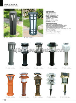 High lighting stainless steel 220V solar lawn lamps for garden lighting