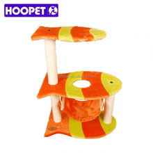 Cat tree cardboard cat tree with plush and sisal materials china supplier