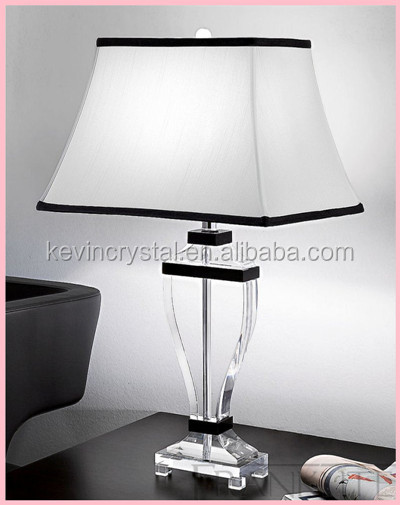 antique crystal chandelier table lamp for hotel / home