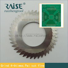 pcb v cut blade for FR-4 and Aluminum substrate with repeated grinding