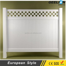 China Anti UV plastic security plastic privacy fences pvc garden temporary fencing plastic fence