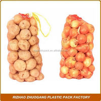 High weight mesh bag for packing vegetables, fruits