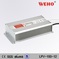 Constant voltage waterproof 150w 12.5a 12v led driver ip67