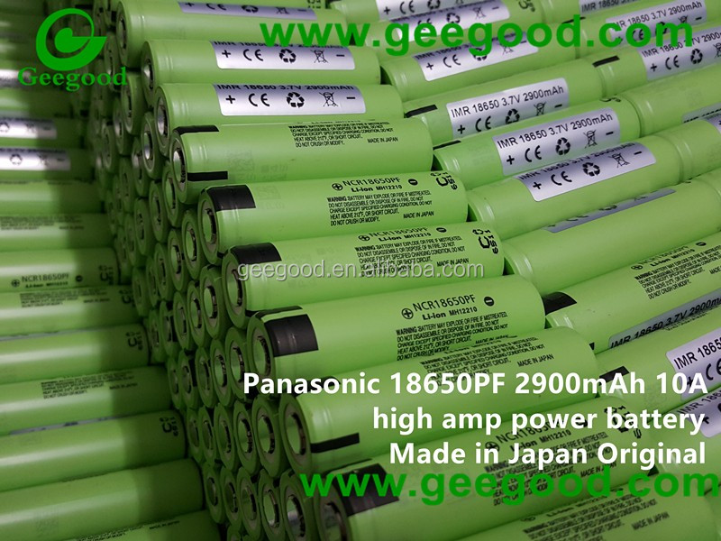 Original Japan NCR 18650PF 2900mAh 10A high amp power battery lithium rechargeable 18650PF